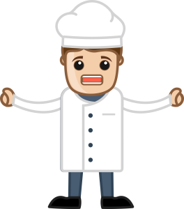 Frustrated Chef Image on Click and Mortar Blog